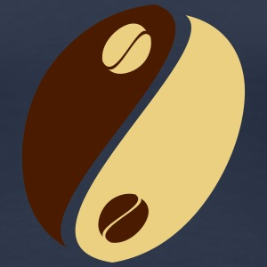 Coffee Bean Yin Yang T-Shirts - Women's Premium T-Shirt