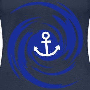 Anchor Swirl T-Shirts - Frauen Premium T-Shirt