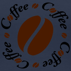 Coffee Bean Circle T-shirts - Dame premium T-shirt