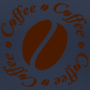 Coffee Bean Circle Camisetas - Camiseta premium mujer