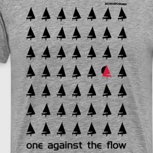One Against The Flow T-Shirts - Männer Premium T-Shirt