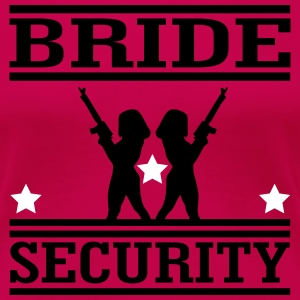Bride Security T-shirts - Dame premium T-shirt