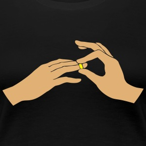 Wedding ring T-shirts - Dame premium T-shirt