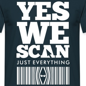 Navy YES WE SCAN T-Shirts - Men's T-Shirt