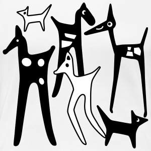 stylized animals - T-shirt Premium Femme