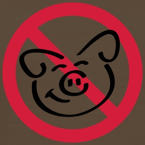 No Pig Flesh T-shirts - Herre premium T-shirt
