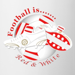 Football is red white soccer Bottles & Mugs - Mug
