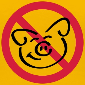 No Pig Flesh T-shirts - Vrouwen Premium T-shirt
