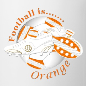 Football is orange soccer Bottles & Mugs - Mug