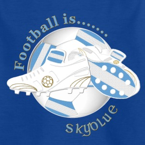 Football is sky blue light coloured Shirts - Teenage T-shirt