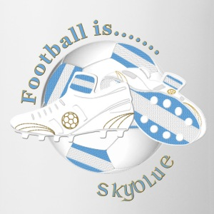 Football is sky blue light coloured Bottles & Mugs - Mug