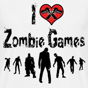 I love Zombie Games T-Shirts - Men's T-Shirt