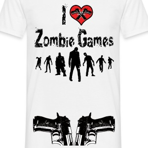 I love Zombie Games - Männer T-Shirt