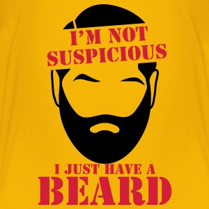 I'm not SUSPICIOUS I just have a BEARD! Shirts - Teenage Premium T-Shirt