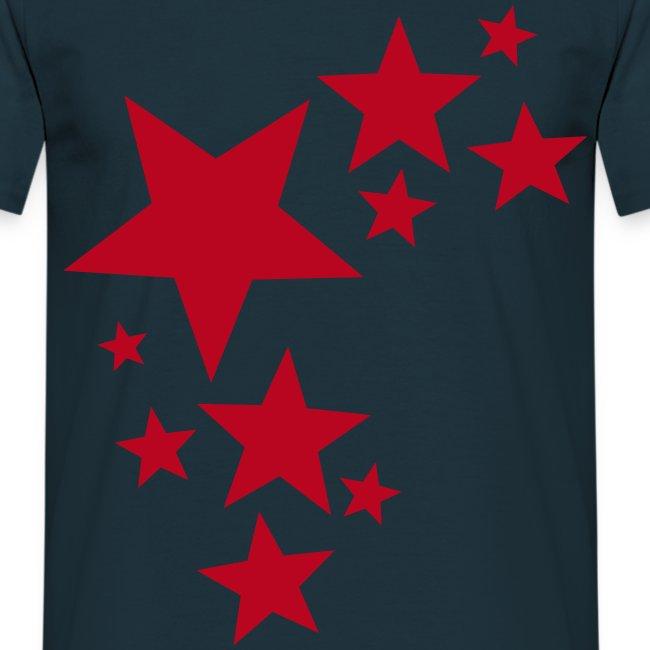 toam stars (red) Flock Print