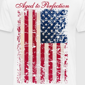 Aged to Perfection / USA Flag - Männer Premium T-Shirt