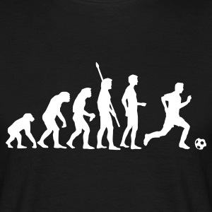 evolution_fussball_weiss T-shirts - Mannen T-shirt