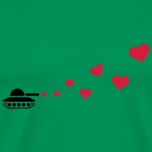 Tank Love Hearts T-Shirts - Men's Premium T-Shirt
