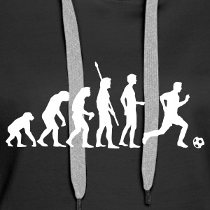 evolution_fussball_weiss Hoodies & Sweatshirts - Women's Premium Hoodie