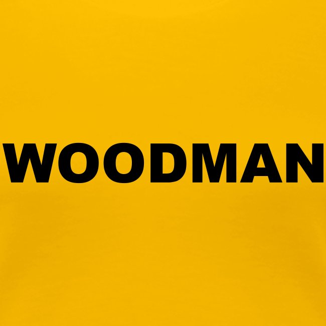 WOODMAN, Women's T-Shirt, black text