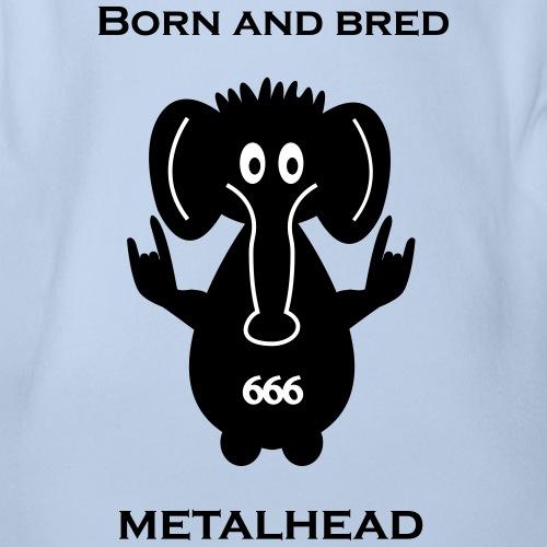 Born and bred metalhead classic logo