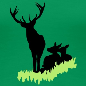 Deer family in the grass tshirt T-Shirts - Women's Premium T-Shirt