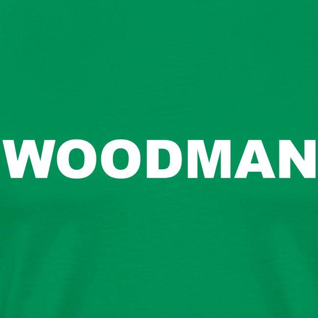WOODMAN + Spider V2, T-Shirt, white text, F/B