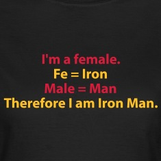 182_i_am_a_female_i_am_iron_man T-Shirts