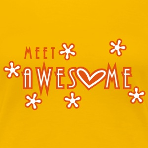 meet awesome (2c) T-Shirts - Women's Premium T-Shirt