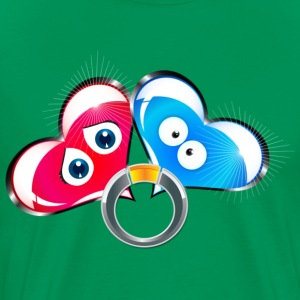Ring Of Two Hearts - Men's Premium T-Shirt