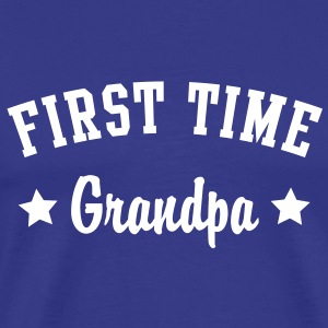 FIRST TIME Grandpa Shirt WB - Herre premium T-shirt