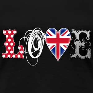 Love UK White T-Shirts - Women's Premium T-Shirt