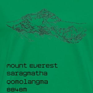 Mount Everest T-Shirt Herren - Männer Premium T-Shirt