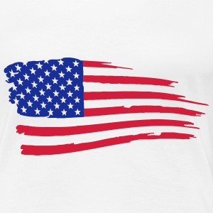 usa_flag_on_white T-Shirts - Women's Premium T-Shirt