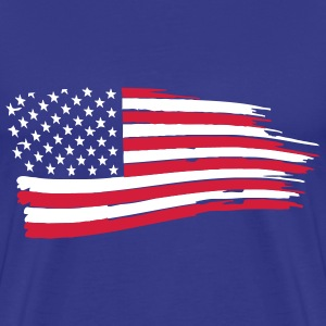 usa_flag_on_blue T-Shirts - Men's Premium T-Shirt