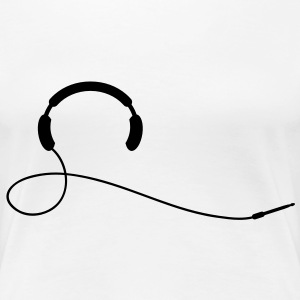 headphone T-Shirts - Women's Premium T-Shirt