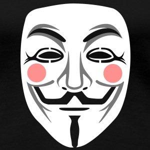 Anonymous / masque de Guy Fawkes 3clr Tee shirts - T-shirt Premium Femme