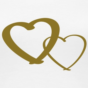 Golden Hearts - Frauen Premium T-Shirt
