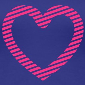 Striped Heart T-Shirts - Frauen Premium T-Shirt
