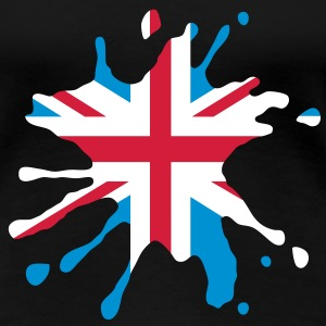 England Union Jack Klecks T-Shirts - Frauen Premium T-Shirt