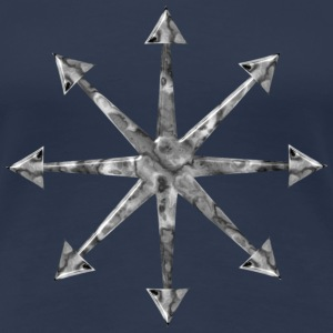 Chaos Star Marble Edition Girlie Shirt | Gothic Horror Fantasy Shirts - Women's Premium T-Shirt