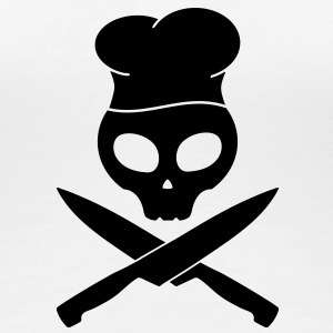kitchen skull pirate T-shirts - Dame premium T-shirt