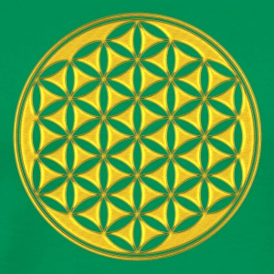 Flower of life - gold - sacred geometry - power of balancing and energizing, energy symbol T-shirts - Mannen Premium T-shirt