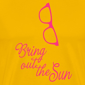 Bring out the Sun (glasses), it's spring summer! T-shirts - Premium-T-shirt herr