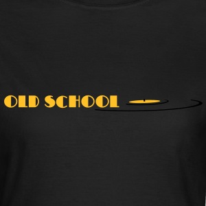 old school, oldschool, vinyl T-shirts - Dame-T-shirt