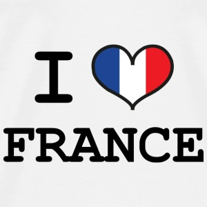 I Love France T-shirts - Herre premium T-shirt