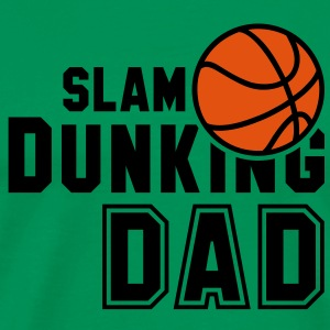 SLAM DUNKING DAD 2C Basketball T-Shirt OO - Men's Premium T-Shirt