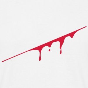 blood splatter T-shirts - Mannen T-shirt