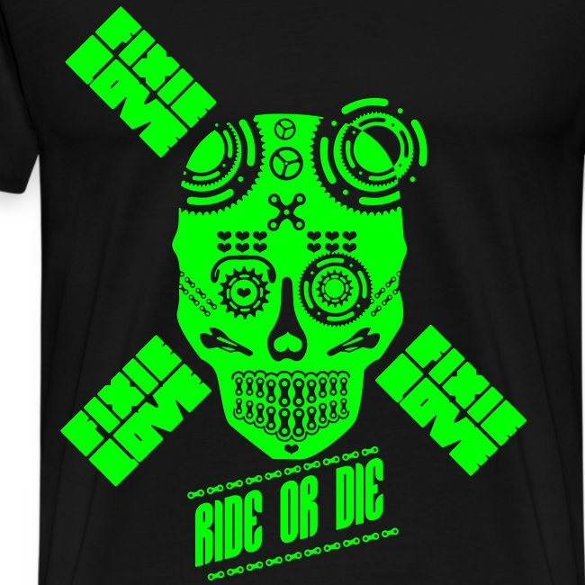 ride or die skull bike