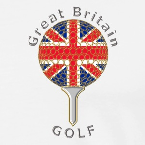 great britain union jack golf logo T-Shirts - Men's Premium T-Shirt